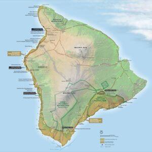 Map of the Ala Kahakai NHT courtesy Ala Kahakai Trail Association