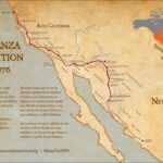 Graphical vintage-style map of the Anza Expedition