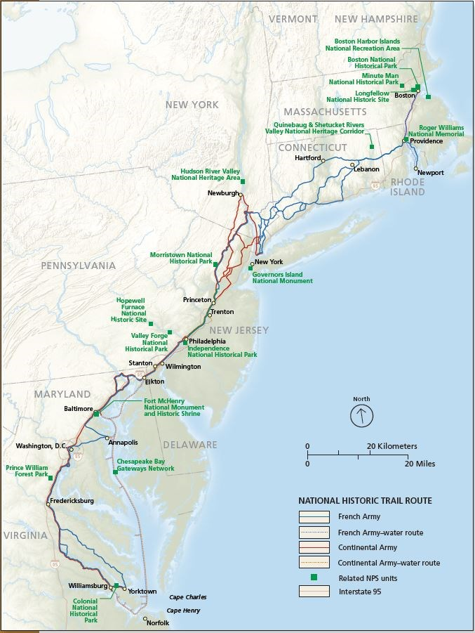 Illustrated map of the W3R Trail