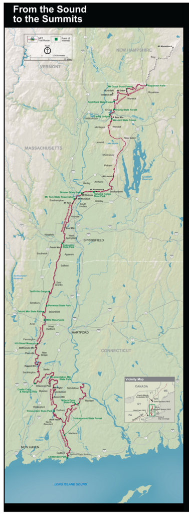 New England NST map cropped from photo of a NPS Poster.