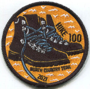 Hike 100 Challenge 2021 Boot Patch