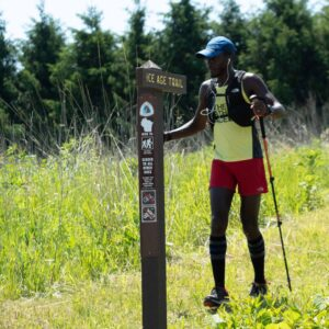 Coree Woltering hikes the ice age trail