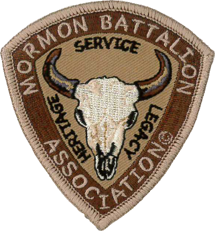 Mormon Battalion Association Bull Skull Logo Patch