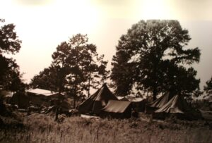 Tents at a campsite during the historic Selma to Montgomery March